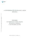 Portada del informe de Auditoría de Cuentas 2016