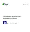 Portada del Posicionamiento de Plena inclusión sobre la Educación Inclusiva (Lectura Fácil)