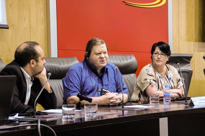 Robert Martin en su conferencia en Madrid