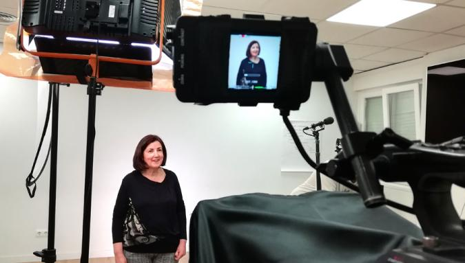 Una de las participantes en los videos de la campaña