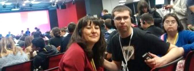 Daniel Fernández junto con Noelia Itúrbide