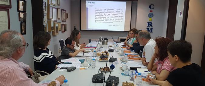 Una imagen de la reunión con los políticos