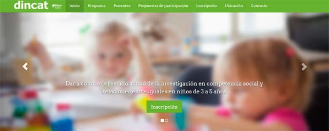 Foto de la web del congreso de familias y discapacidad