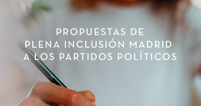 Imagen de la portada del documento de propuestas
