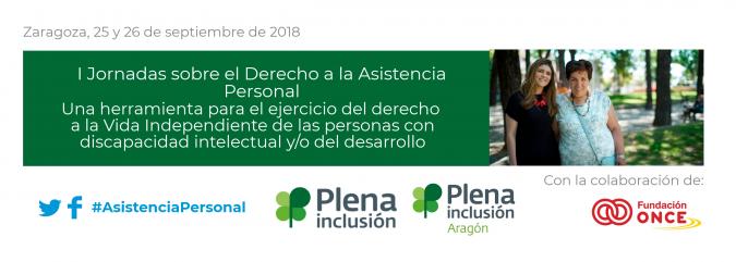Banner de la jornada de asistencia personal