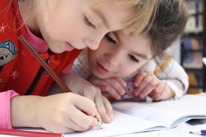 Niños en una escuela
