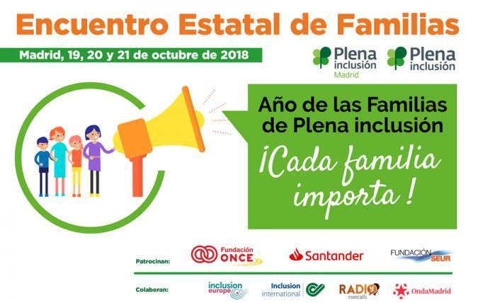 Banner del Encuentro Estatal de Familias de Plena inclusión