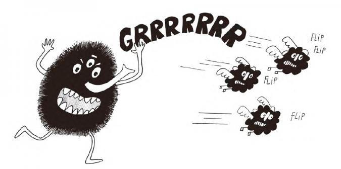 Ilustración de Flip y Flop