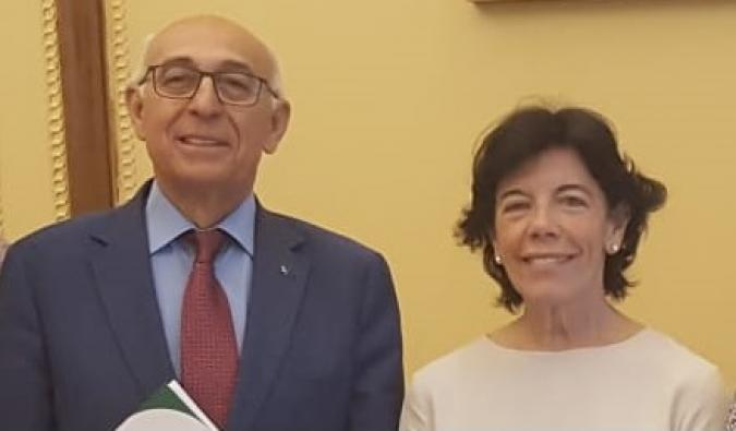 Juan Pérez e Isabel Celaá en una reunión mantenida el pasado verano