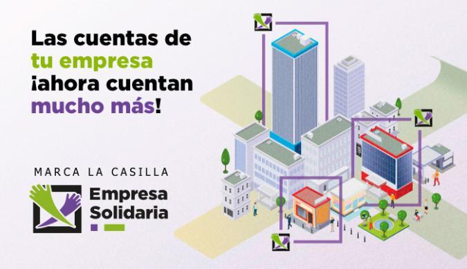 Cartel x solidaria de las empresas