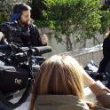Una madre de Plena inclusión habla para los informativos de televisión española