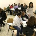 Las personas participantes trabajando