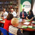 Un momento del encuentro con empresas en Oviedo