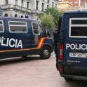 Furgones de la policia nacional
