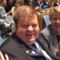 Robert en un momento de la reunión del Comité