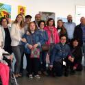 Foto de familia de la inauguración de la exposición