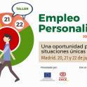 Cartel de la jornada y taller de empleo personalizado de Plena inclusión