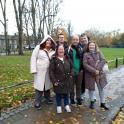 Foto del grupo de españoles en Cambridge