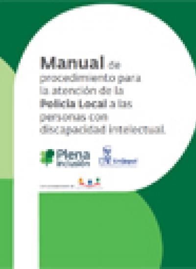 Portada del Manual de procedimiento para la atención de la Policia Local a las personas con discapacidad intelectual