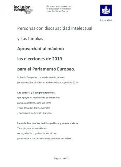 portada Aprovechad al máximo las elecciones de 2019 para el Parlamento Europeo