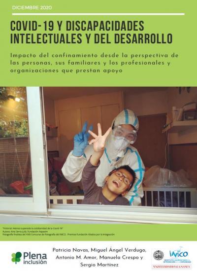 Portada estudio Informe COVID-19 y discapacidades intelectuales y del desarrollo