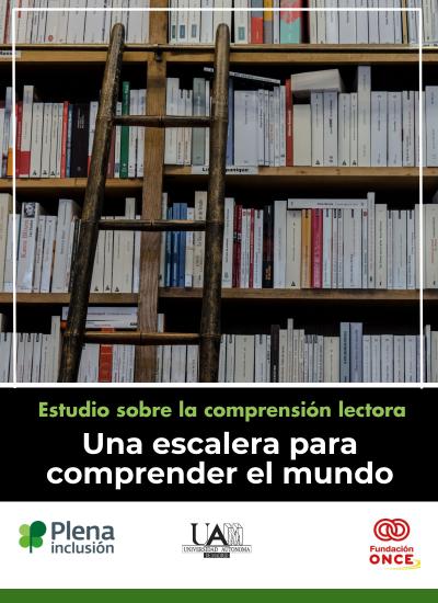 una escalera sobre estantería llena de libro