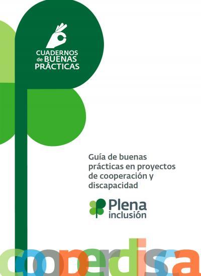 Portada de la Guía de buenas prácticas en proyectos de cooperación y discapacidad