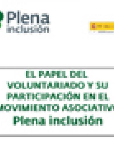 Portada del papel del voluntariado en Plena inclusión