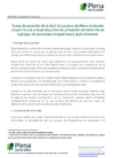 Portada del Posicionamiento de la Red de Juristas de Plena inclusión sobre el derecho al Voto